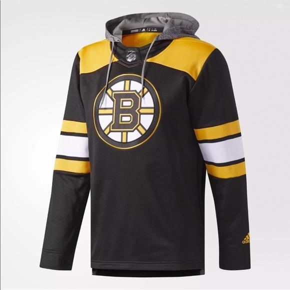 super popular 86d2e 642a9 Boston Bruins Hoodie Jersey NWT